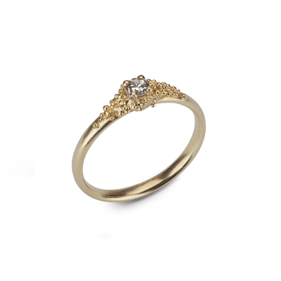 EC One Hannah Bedford recycled gold Single Diamond Cluster Ring Yellow Gold