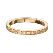 EC One 'Emma' Yellow recycled Gold Diamond Eternity Ring