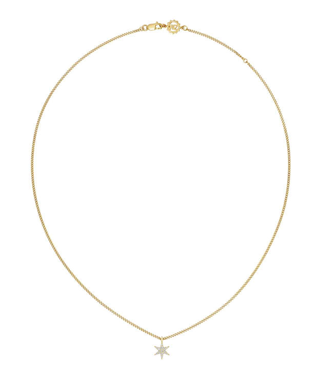 EC One Zoe & Morgan Mini Anahata Star Yellow Gold Diamond Necklace