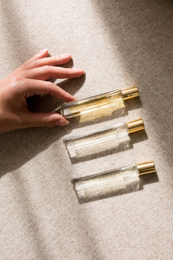 Holistick Essential Oil Rollers. Champai, Melati and Teratai. Natural perfumes in 10ml bottles