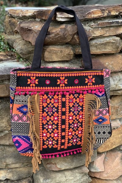 Avani Del Amour BAG OS / BLACK MULTI CARRYING YOU AWAY WITH ME TOTE