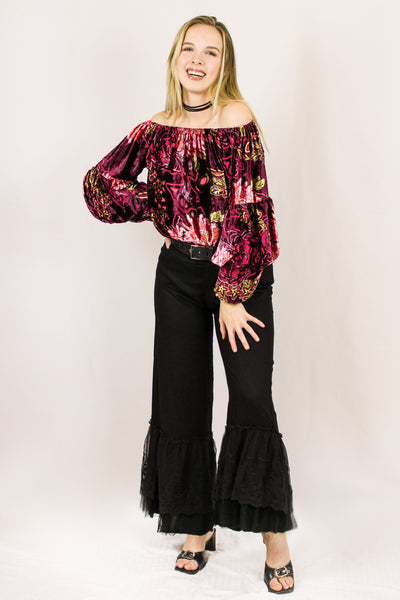 Avani Del Amour BOTTOMS Dancing the Night Away Ruffle Pants