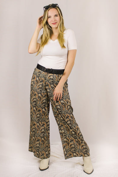 Avani Del Amour BOTTOMS Leaving Me Longing Printed Palazzo Pant