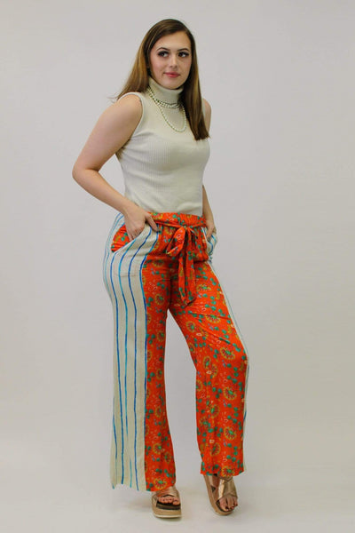 Avani Del Amour BOTTOMS Stripe and Floral Promenade Pant