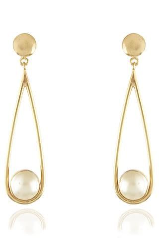 Avani Del Amour JEWELRY OS / GOLD/PEARL PEARL DROP DANGLE EARRING