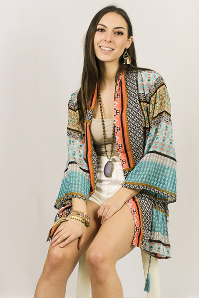 Avani Del Amour OUTERWEAR Mix It Don't Match It Printed Kimono