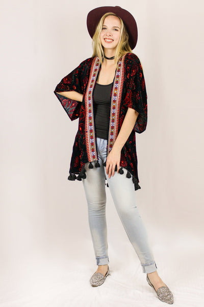 Avani Del Amour OUTERWEAR With The Band Velvet Kimono