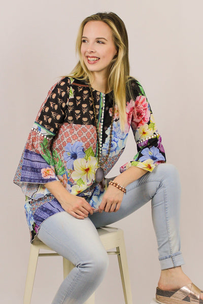 Avani Del Amour TOP Follow Me With Flowers Tunic