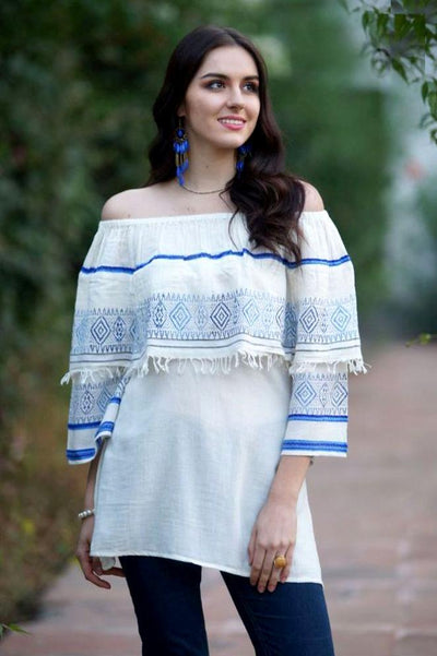 Avani Del Amour TOPS Magic in Mykonos Off Shoulder Tunic