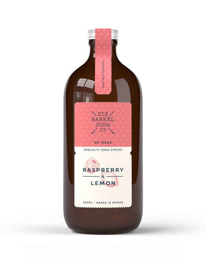 Raspberry & Lemon Syrup/ 500ml  / Six Barrel Soda