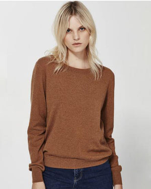 Cashmere Crew Sweater / Whisky / Laing