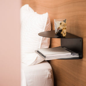 Fold Bedside Table / Black  / Made of Tomorrow