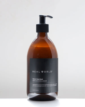 Hand Wash Glass / Sandalwood & Rose Geranium / Real World
