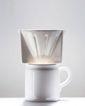 Coffee Dripper / White / Taus Ceramic