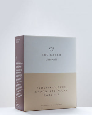 Flourless Dark Chocolate Pecan / Cake Kit / The Caker