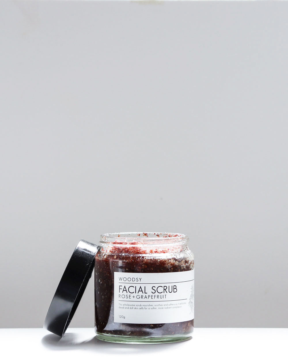 Facial Scrub / Rose & Grapefruit / Woodsy Botanics