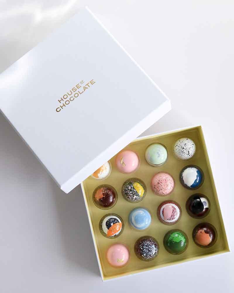 16 Pc Bonbon Box / House of Chocolate