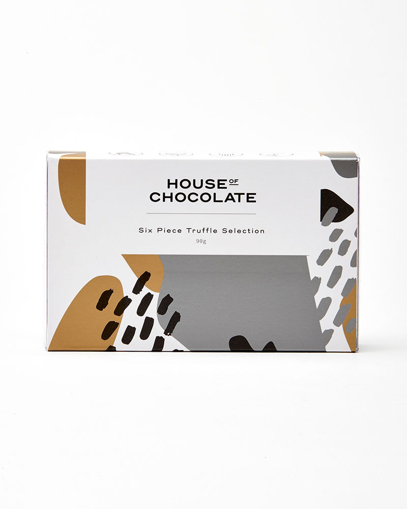 6 Pc Liqueur Truffle Box / House of Chocolate
