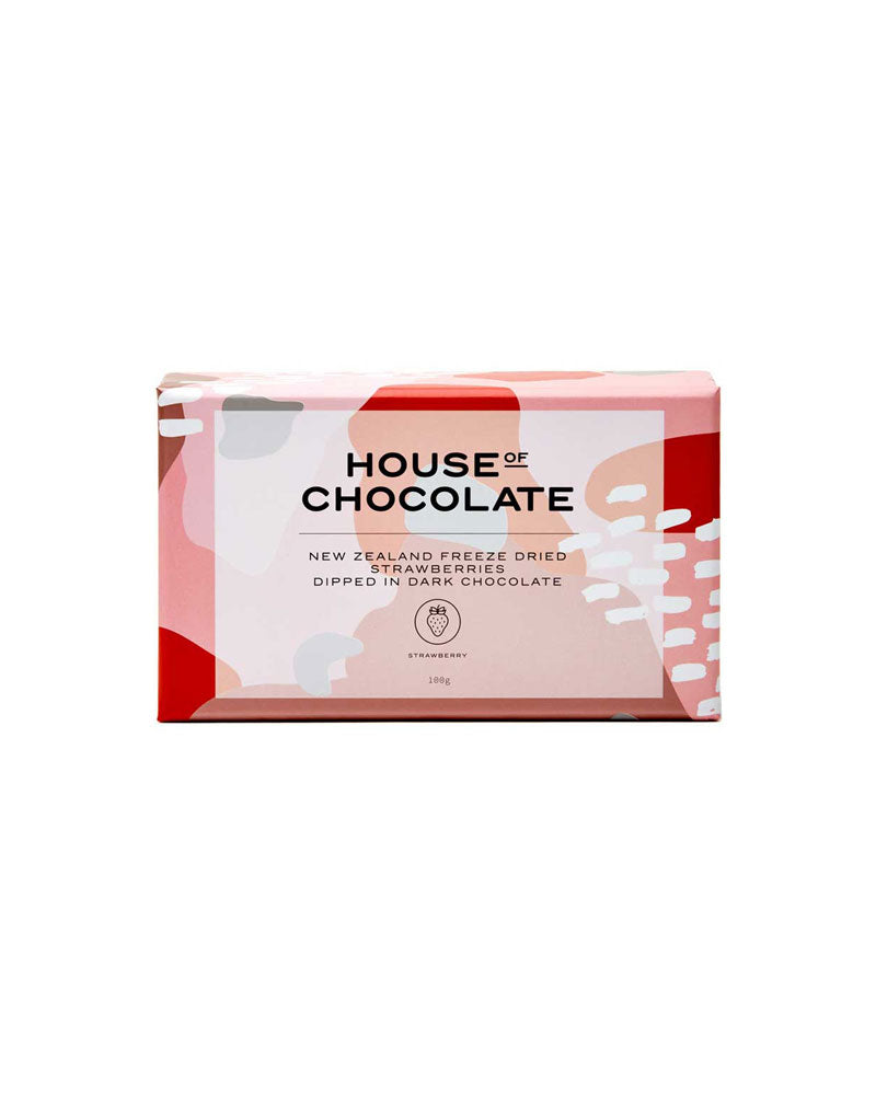 Dark Chocolate Freeze Dried Strawberries / House of Chocolate