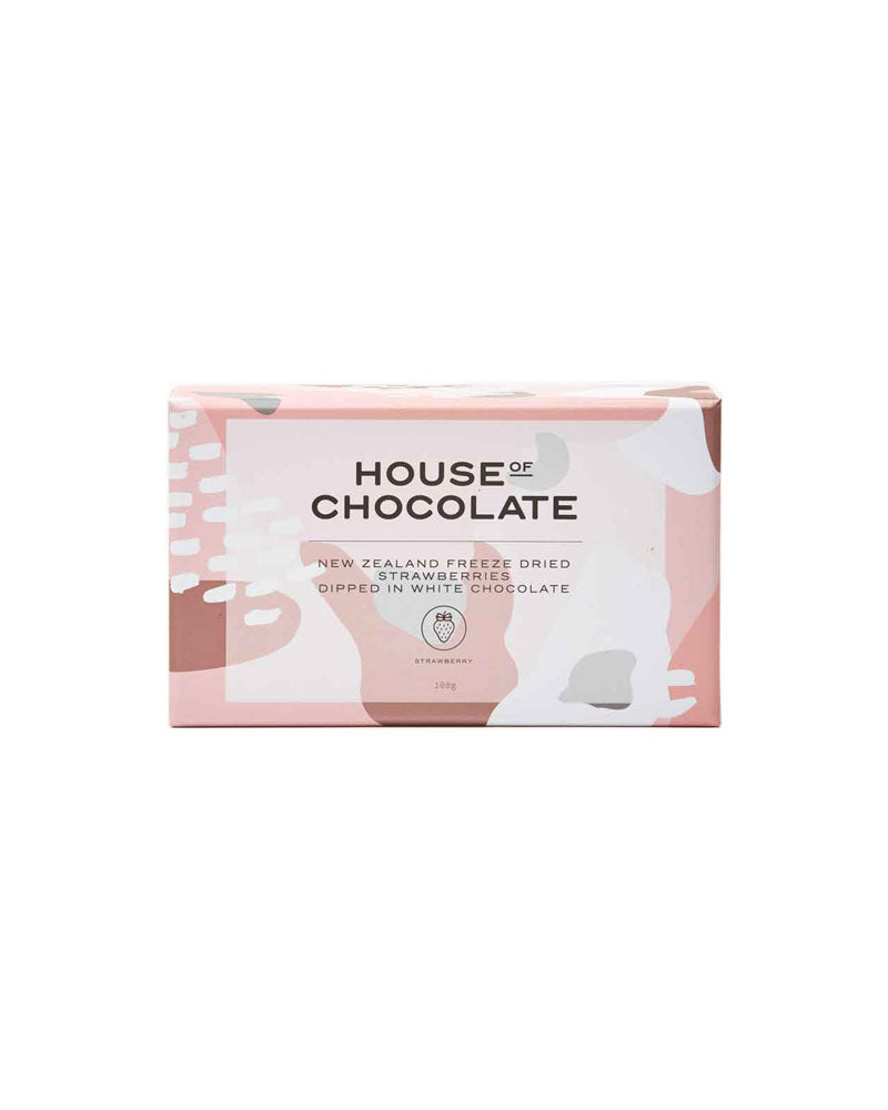 White Chocolate Freeze Dried Strawberries / House of Chocolate