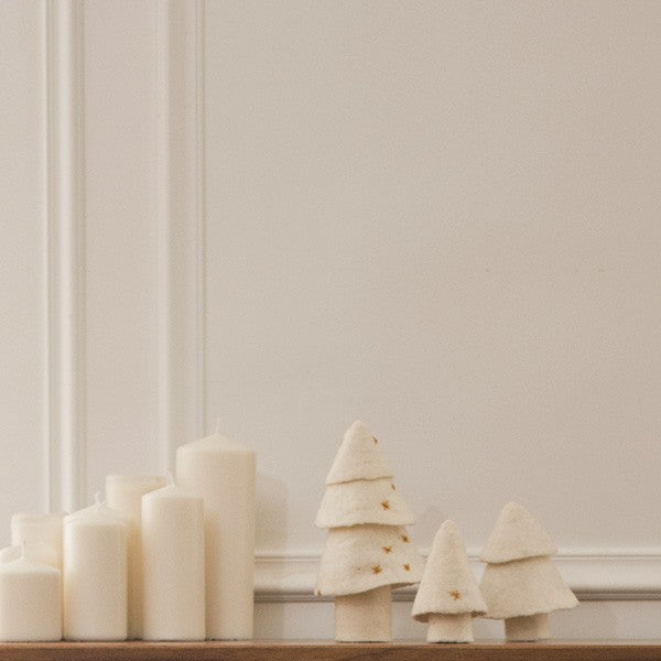 Felt Christmas Tree Set / White / Muskhane