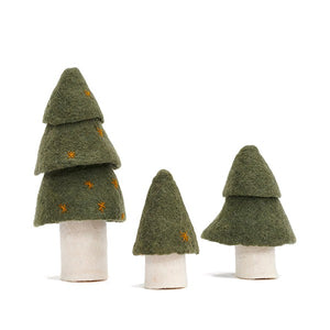 Felt Christmas Tree Set / Green / Muskhane