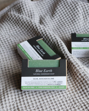 Handmade Natural Soap Bar / Blue Earth