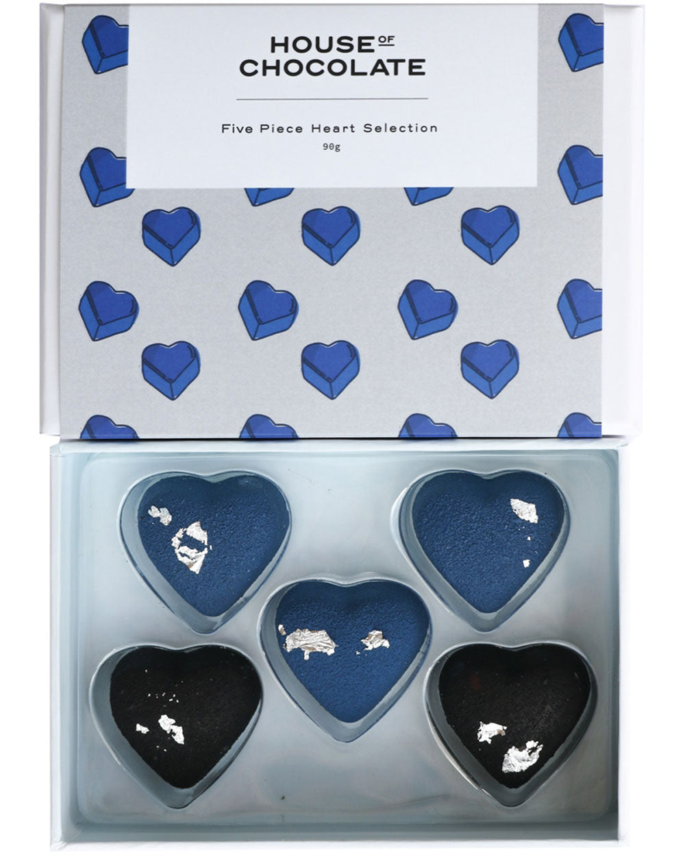 5 Pc Blue Heart Bonbon Box / Valentine's Day / House of Chocolate