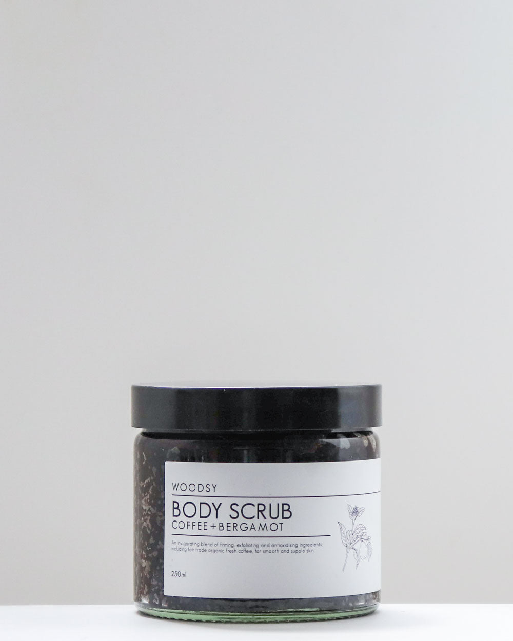 Body Scrub / Bergamot & Coffee / Woodsy Botanics