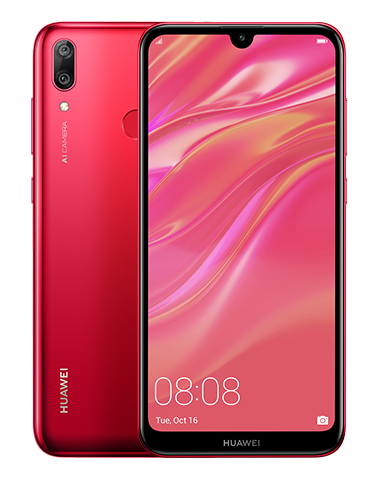 Huawei Y7 (2019) SIM Unlocked (Brand New) DUB-LX3 - Coral Red