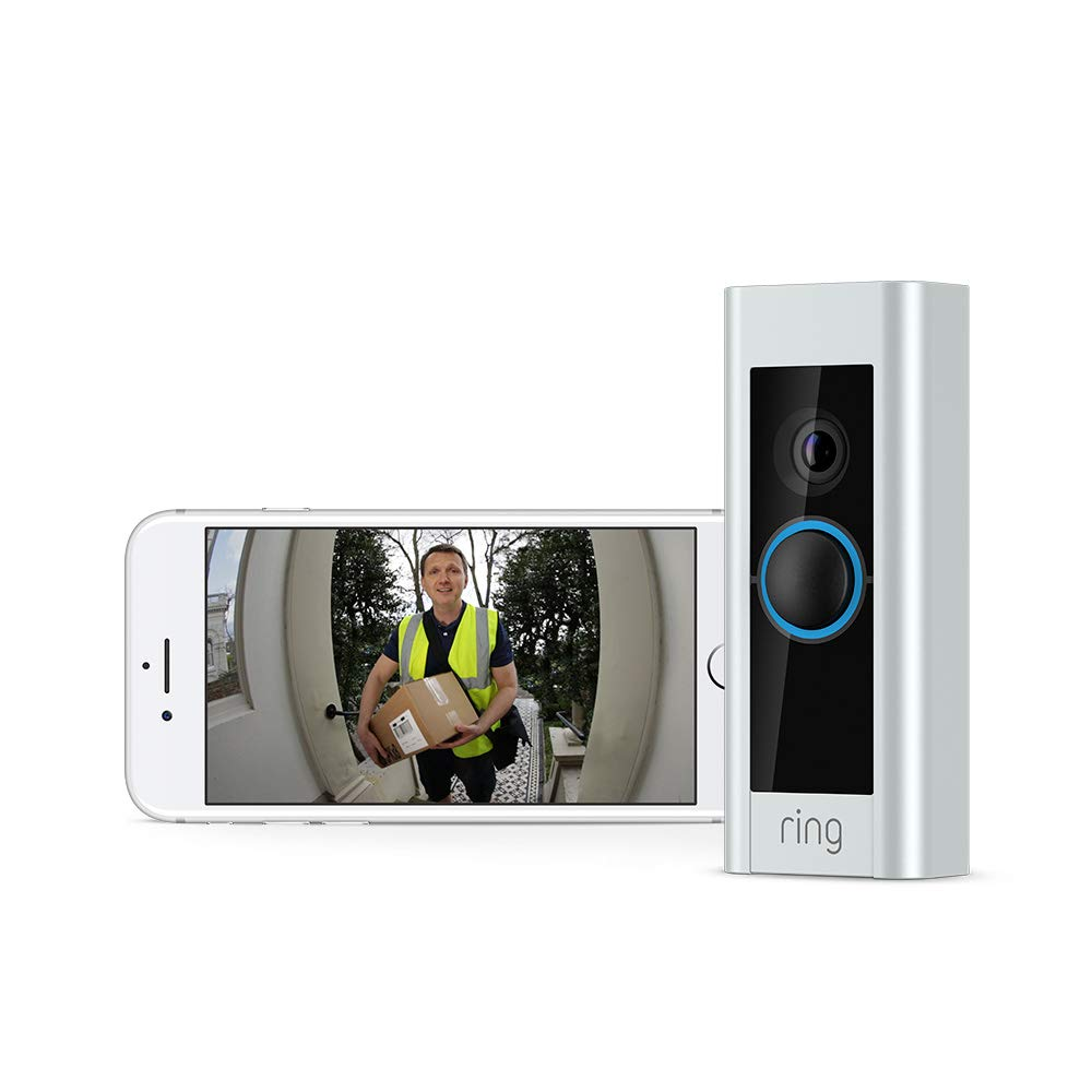 Ring Video Doorbell Pro HD - Satin Nickel (Brand New)
