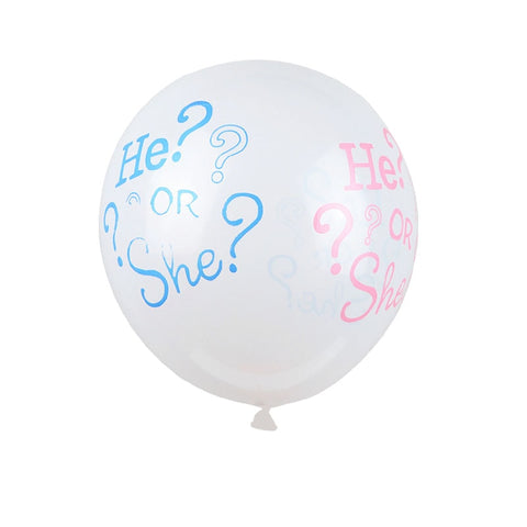 Gender Reveal He or She? Balloon