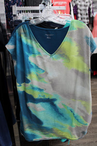 XXL Watercolor Maternity Top