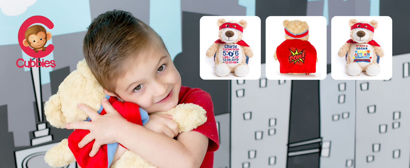 Personalised Cubbies Hero Bear - Kustom Threadz Embroidery