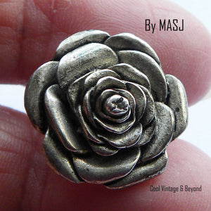 1990s MASJ Vintage rose lapel pin - Cool Vintage and Beyond