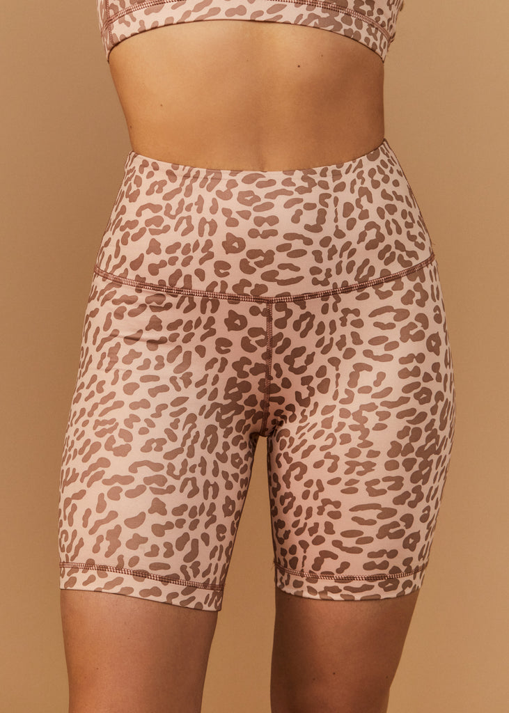 LAUREL CYN SHORTS - LEOPARD - TAN + LINES by Sivan Ayla