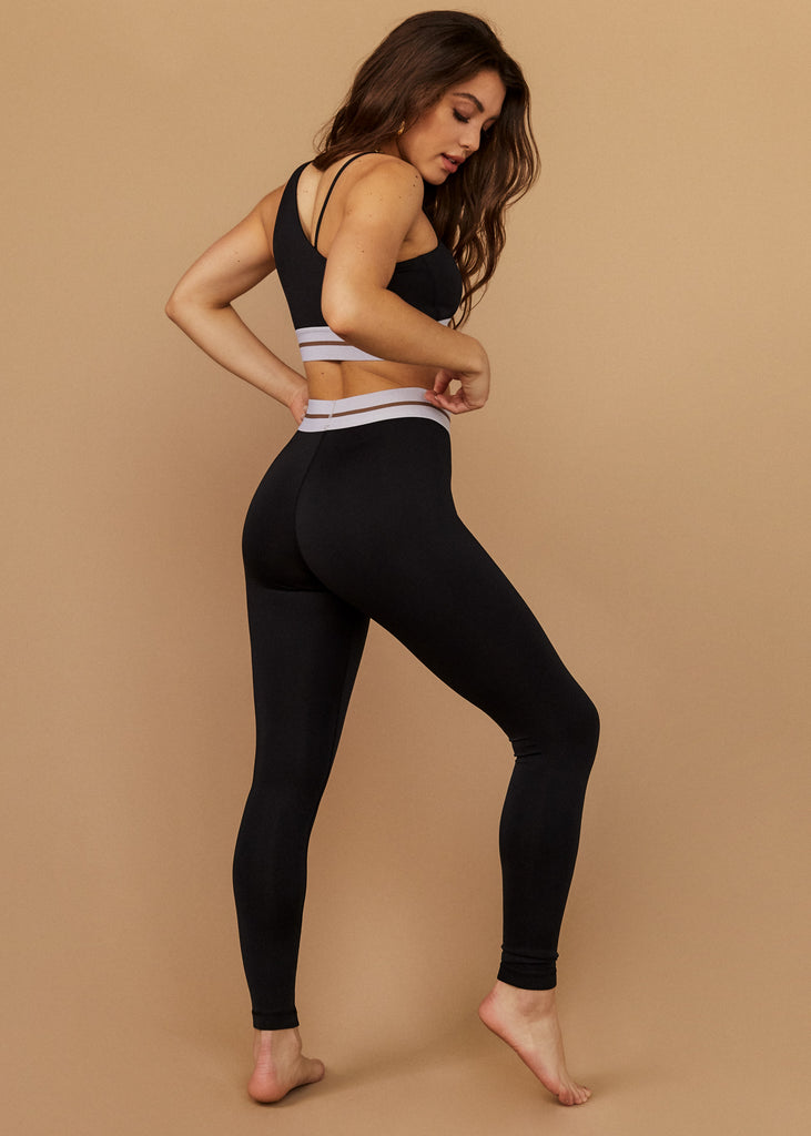 RUNYON CYN LEGGINGS - BLACK - TAN + LINES by Sivan Ayla
