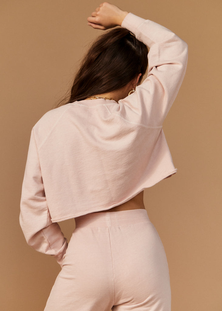 PALISADES SWEATSHIRT - BLUSH - TAN + LINES by Sivan Ayla