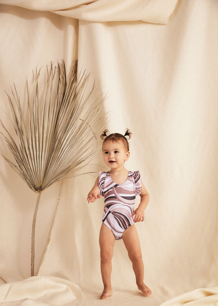 CAPRI MINI SUIT - CIAO - TAN + LINES by Sivan Ayla