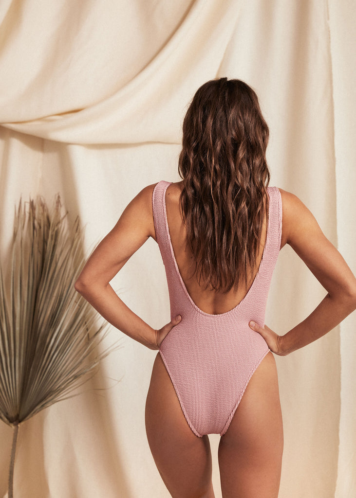 MAUI ONE PIECE - BLUSH - TAN + LINES by Sivan Ayla