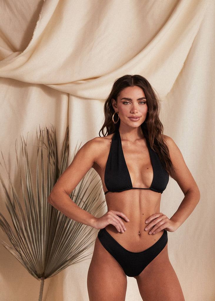 MIAMI TOP - BLACK - TAN + LINES by Sivan Ayla