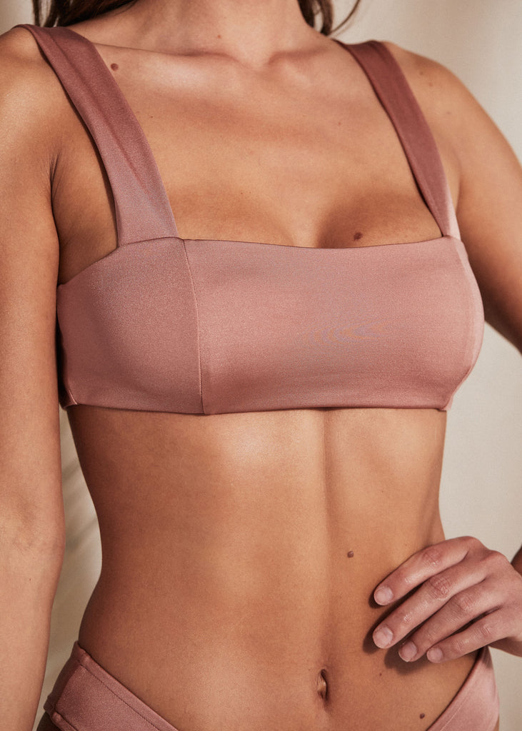 ST JOHN TOP - NECTAR - TAN + LINES by Sivan Ayla