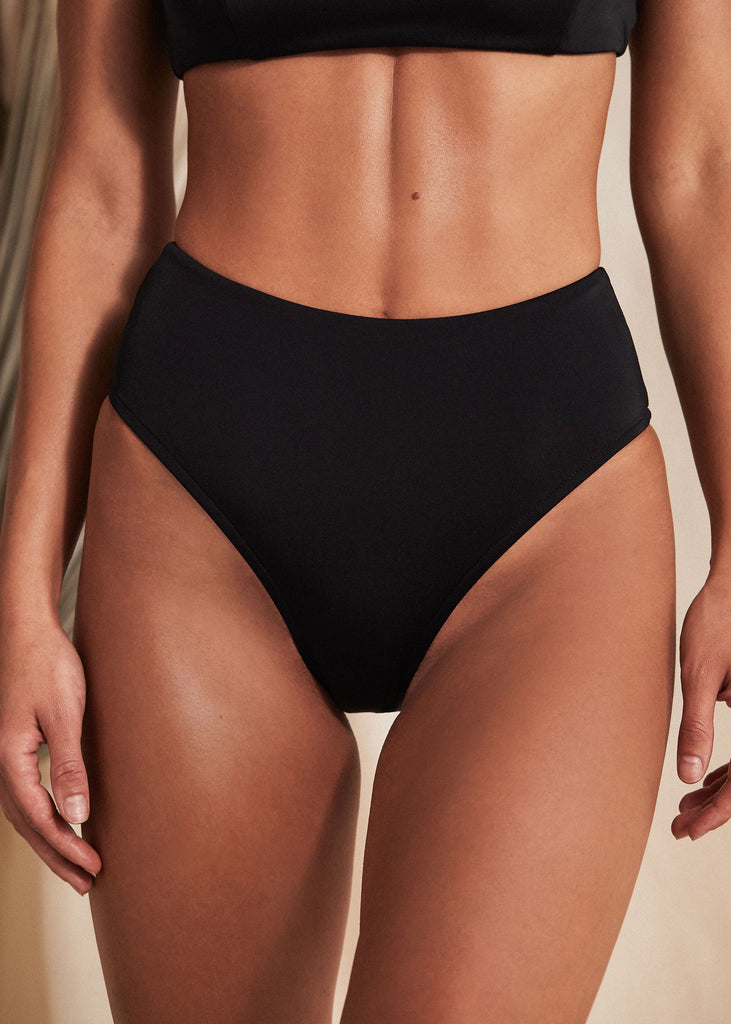 NAXOS BOTTOM - BLACK - TAN + LINES by Sivan Ayla