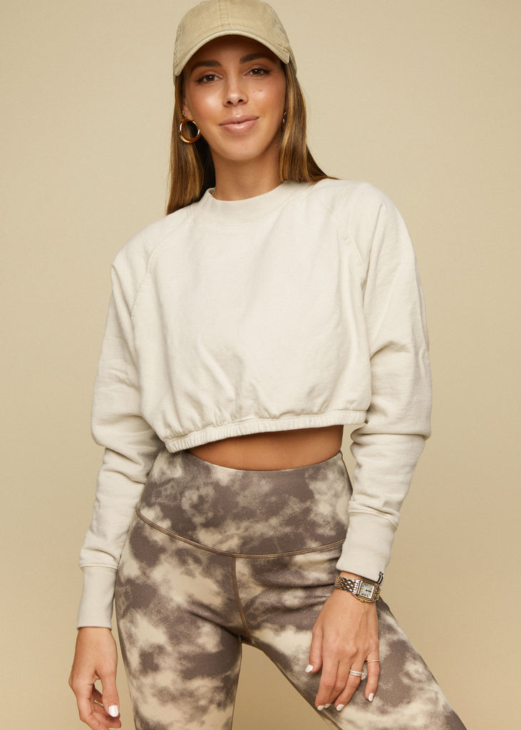 VALLEY SWEATSHIRT - BONE - TAN + LINES by Sivan Ayla