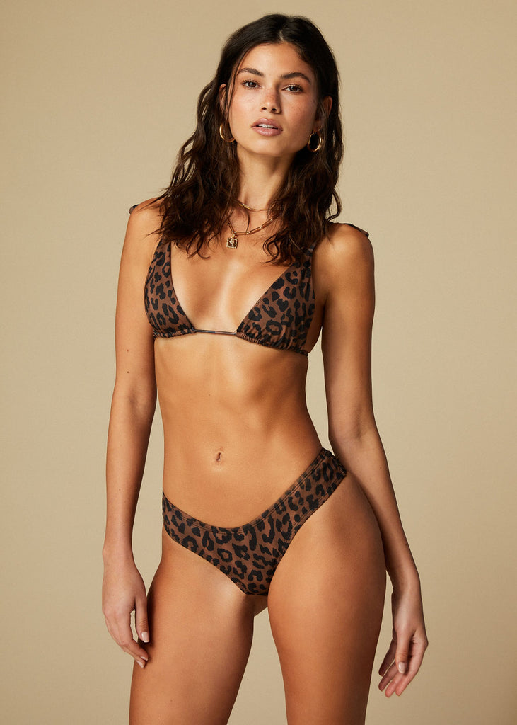 MYKONOS TOP - LEOPARD - TAN + LINES by Sivan Ayla