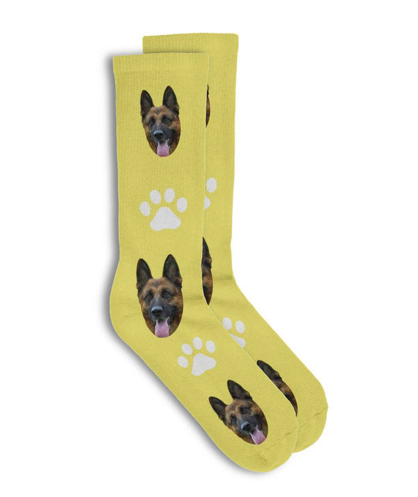 Customized Paw Print Pet Socks - Put Your Cute Pet On Personalized Socks-Custom Socks - Panbiii online