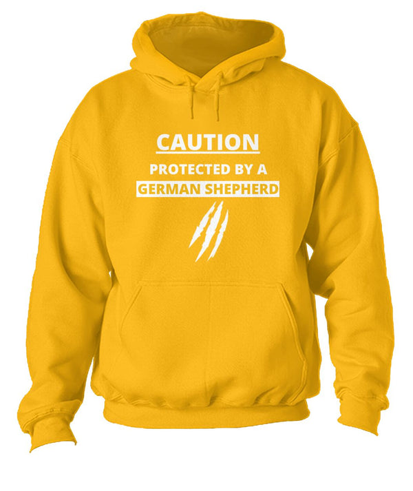 """Caution, Protected By A German Shephed""-Funny Unisex Hoodie- Unique Dog Lover Gifts - Panbiii online"