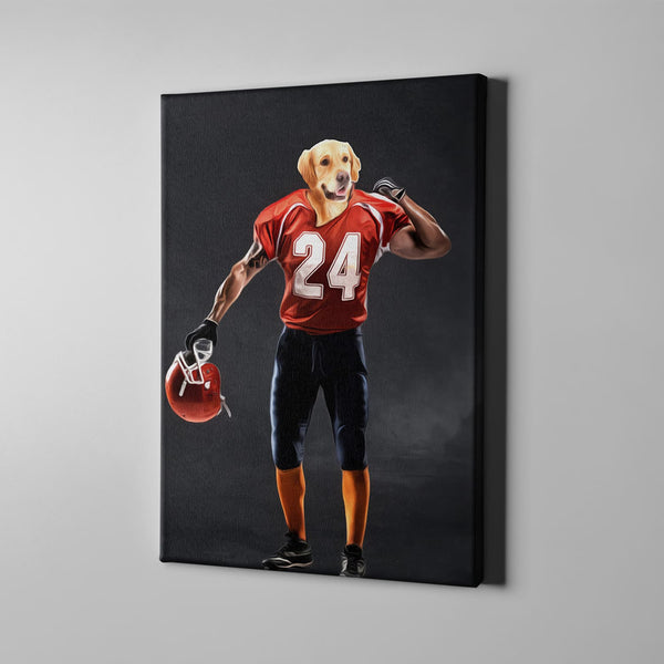 The Football Player-Custom( Your Pet) - Canvas Art- Perfect Pet Owner Gifts - Panbiii online