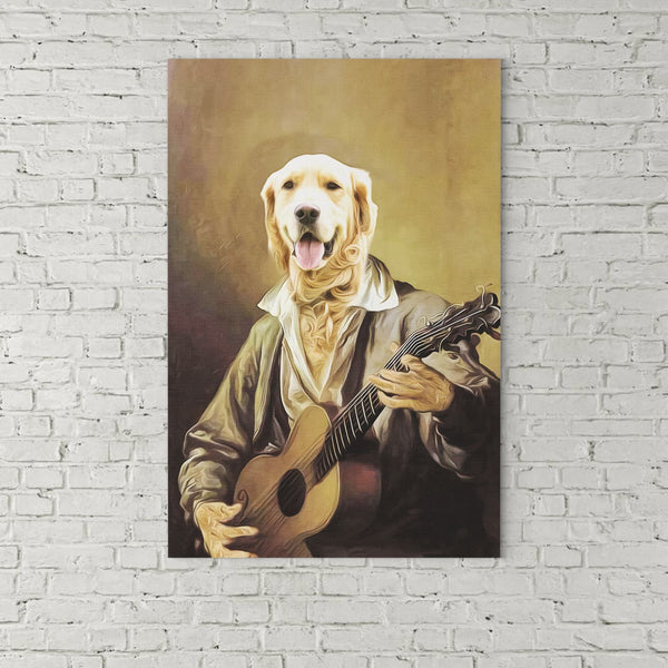 The One With Guitar-Custom( Your Pet) - Canvas Art- Perfect Pet Owner Gifts - Panbiii online