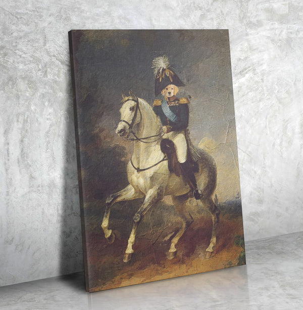 The One Riding A Horse-Custom( Your Pet) -  Personalized Canvas Art - Panbiii online